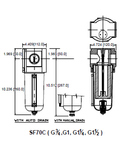 oil removal filter sf70c